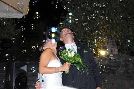 sposi bolle a cascata